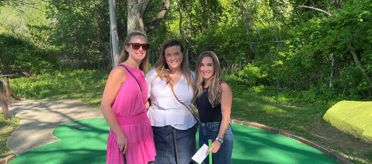 Hot Competition at Mini-Golf